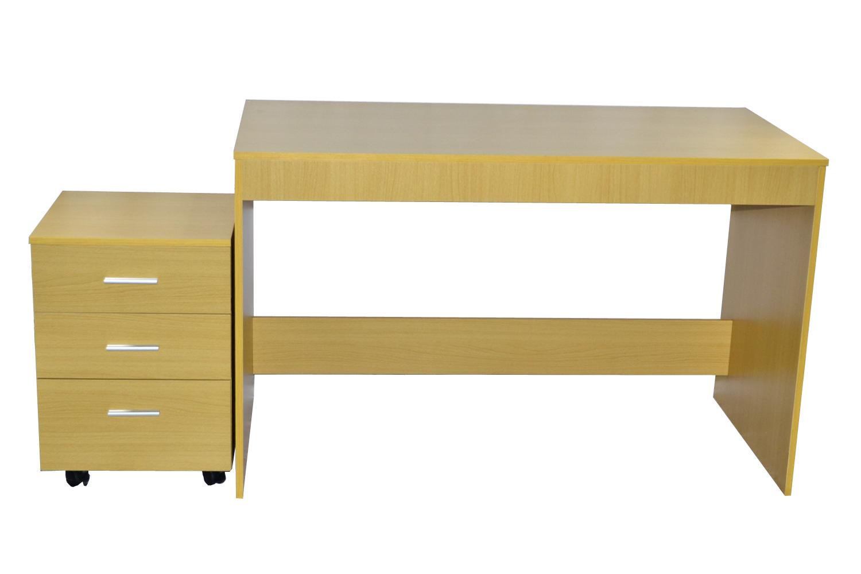 1 schreibtisch computertisch b rotisch schubladen for Schreibtisch buche 120 x 60