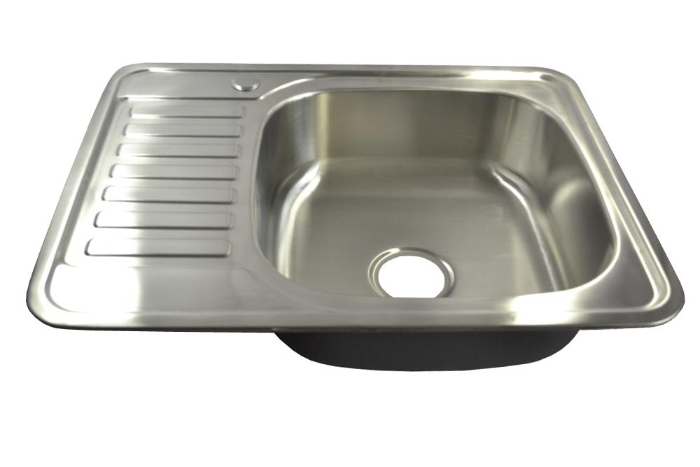 1 fregadero de acero inoxidable 304 ovalado con bandeja y desag/üe 76,5 x 50 cm