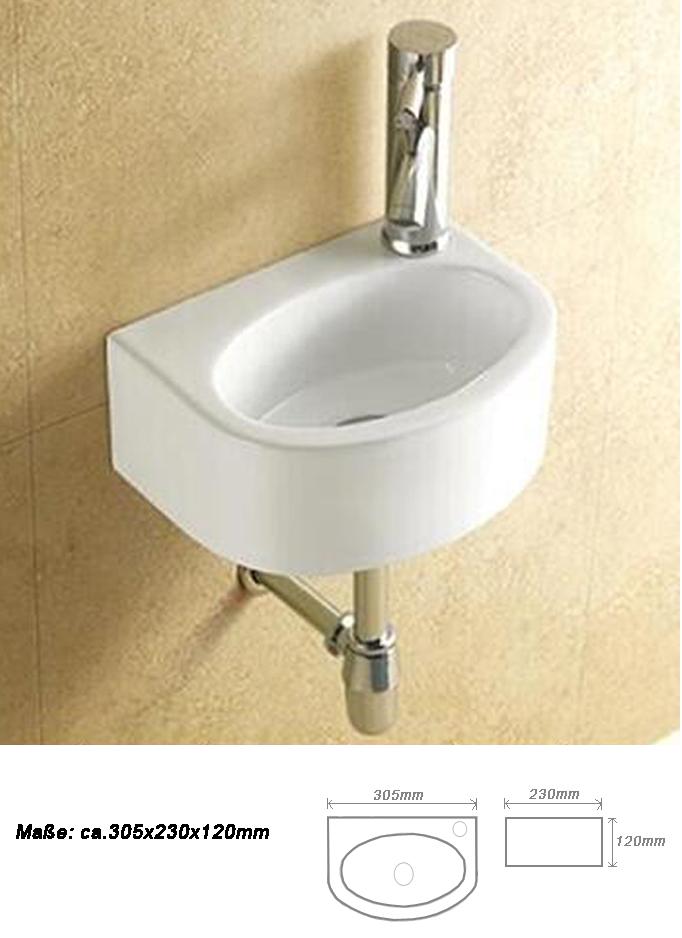 1x waschbecken klein keramik handwaschbecken for Handwaschbecken klein