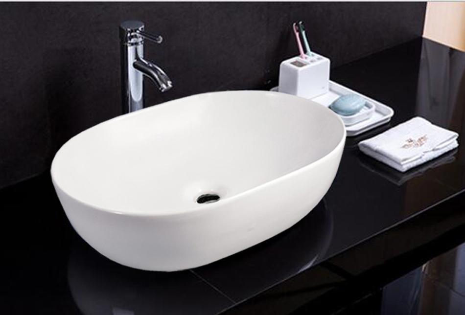waschbecken keramik wandmontage handwaschbecken keramikwaschbecken eckig 36x18x9 ebay. Black Bedroom Furniture Sets. Home Design Ideas