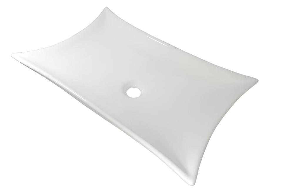 Keramikwaschbecken Waschbecken Keramik aufsatz weiß Diamant eckig 56,5x38